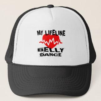 MY LIFE LINA BELLY DANCE DESIGNS TRUCKER HAT