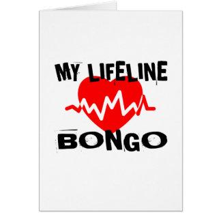 MY LIFE LINA BONGO MUSIC DESIGNS CARD