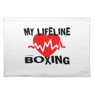 MY LIFE LINA BOXING MARTIAL ARTS DESIGNS PLACEMAT