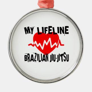MY LIFE LINA BRAZILIAN JIU-JITSU MARTIAL ARTS DESI METAL ORNAMENT
