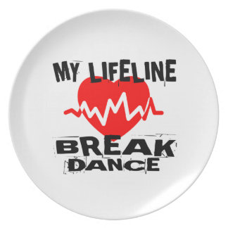 MY LIFE LINA BREAKDANCE DANCE DESIGNS PLATE