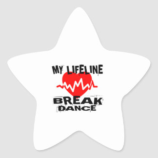 MY LIFE LINA BREAKDANCE DANCE DESIGNS STAR STICKER