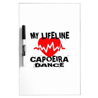 MY LIFE LINA CAPOEIRA DANCE DESIGNS DRY ERASE BOARD