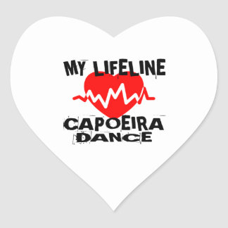 MY LIFE LINA CAPOEIRA DANCE DESIGNS HEART STICKER