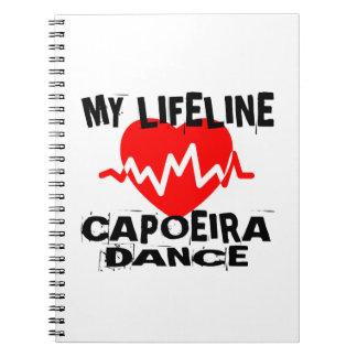 MY LIFE LINA CAPOEIRA DANCE DESIGNS NOTEBOOK