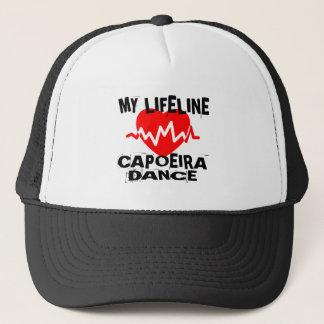 MY LIFE LINA CAPOEIRA DANCE DESIGNS TRUCKER HAT