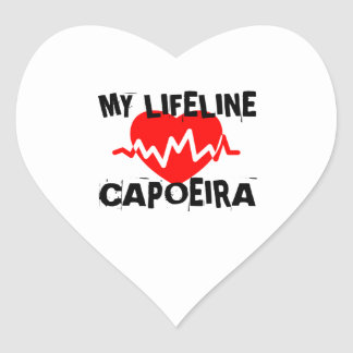 MY LIFE LINA CAPOEIRA MARTIAL ARTS DESIGNS HEART STICKER