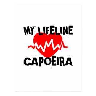 MY LIFE LINA CAPOEIRA MARTIAL ARTS DESIGNS POSTCARD