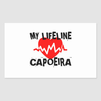 MY LIFE LINA CAPOEIRA MARTIAL ARTS DESIGNS RECTANGULAR STICKER