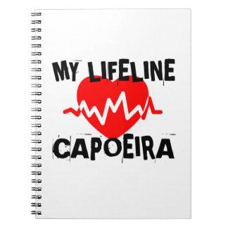 MY LIFE LINA CAPOEIRA MARTIAL ARTS DESIGNS SPIRAL NOTEBOOK