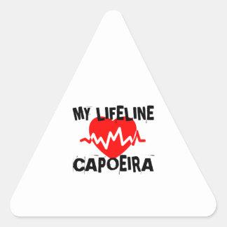 MY LIFE LINA CAPOEIRA MARTIAL ARTS DESIGNS TRIANGLE STICKER