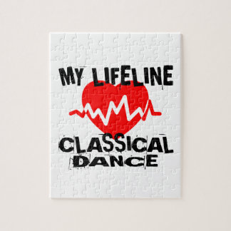 MY LIFE LINA CLASSICAL DANCE DANCE DESIGNS JIGSAW PUZZLE
