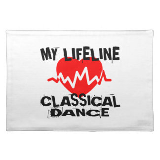 MY LIFE LINA CLASSICAL DANCE DANCE DESIGNS PLACEMAT