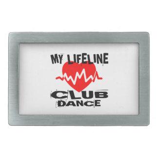 MY LIFE LINA CLUB DANCE DESIGNS RECTANGULAR BELT BUCKLE