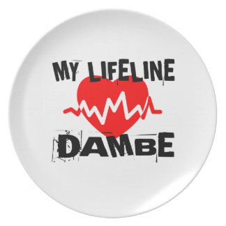 MY LIFE LINA DAMBE MARTIAL ARTS DESIGNS PLATE