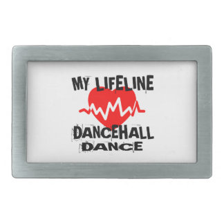 MY LIFE LINA DANCEHALL DANCE DESIGNS RECTANGULAR BELT BUCKLE