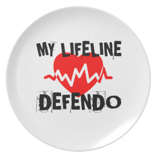 MY LIFE LINA DEFENDO MARTIAL ARTS DESIGNS PLATE