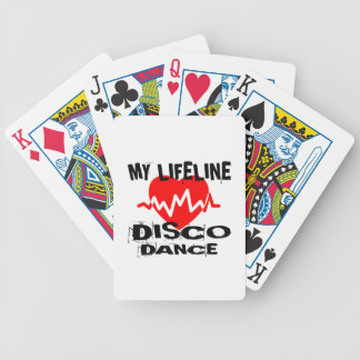 MY LIFE LINA DISCO DANCE DESIGNS BICYCLE PLAYING CARDS
