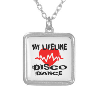 MY LIFE LINA DISCO DANCE DESIGNS SILVER PLATED NECKLACE