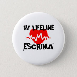 MY LIFE LINA ESCRIMA MARTIAL ARTS DESIGNS 6 CM ROUND BADGE