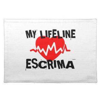 MY LIFE LINA ESCRIMA MARTIAL ARTS DESIGNS PLACEMAT