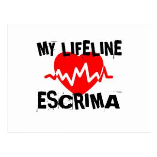 MY LIFE LINA ESCRIMA MARTIAL ARTS DESIGNS POSTCARD