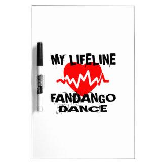 MY LIFE LINA FANDANGO DANCE DESIGNS DRY ERASE BOARD