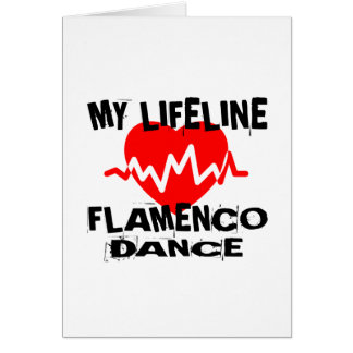 MY LIFE LINA FLAMENCO DANCE DESIGNS CARD