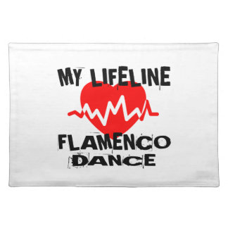 MY LIFE LINA FLAMENCO DANCE DESIGNS PLACEMAT