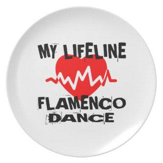 MY LIFE LINA FLAMENCO DANCE DESIGNS PLATE