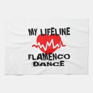 MY LIFE LINA FLAMENCO DANCE DESIGNS TEA TOWEL