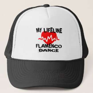 MY LIFE LINA FLAMENCO DANCE DESIGNS TRUCKER HAT