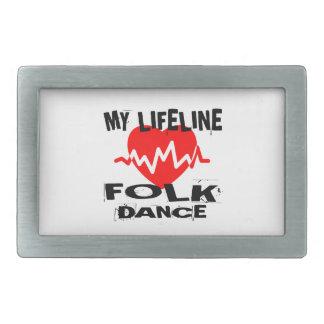 MY LIFE LINA FOLK DANCE DESIGNS BELT BUCKLE