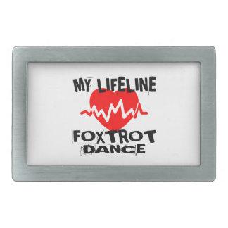 MY LIFE LINA FOXTROT DANCE DESIGNS RECTANGULAR BELT BUCKLE