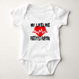MY LIFE LINA FREESTYLE FIGHTING MARTIAL ARTS DESIG BABY BODYSUIT