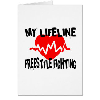 MY LIFE LINA FREESTYLE FIGHTING MARTIAL ARTS DESIG CARD