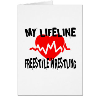 MY LIFE LINA FREESTYLE WRESTLING MARTIAL ARTS DESI CARD