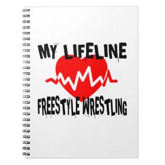 MY LIFE LINA FREESTYLE WRESTLING MARTIAL ARTS DESI NOTEBOOKS