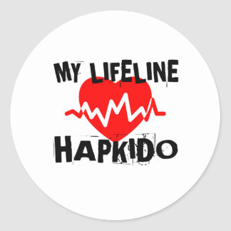 MY LIFE LINA HAPKIDO MARTIAL ARTS DESIGNS CLASSIC ROUND STICKER