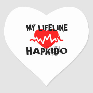 MY LIFE LINA HAPKIDO MARTIAL ARTS DESIGNS HEART STICKER