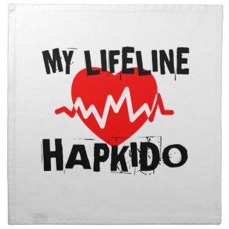 MY LIFE LINA HAPKIDO MARTIAL ARTS DESIGNS NAPKIN