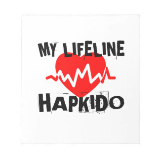MY LIFE LINA HAPKIDO MARTIAL ARTS DESIGNS NOTEPAD