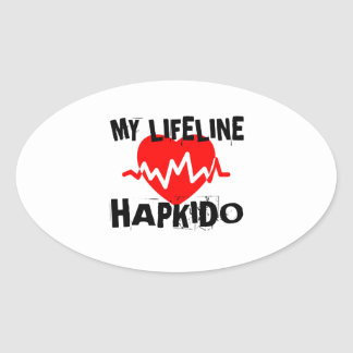 MY LIFE LINA HAPKIDO MARTIAL ARTS DESIGNS OVAL STICKER