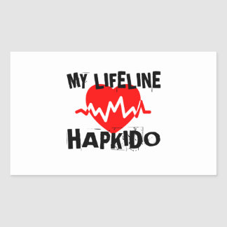 MY LIFE LINA HAPKIDO MARTIAL ARTS DESIGNS RECTANGULAR STICKER