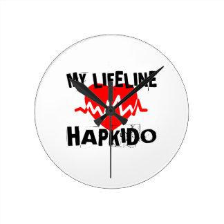 MY LIFE LINA HAPKIDO MARTIAL ARTS DESIGNS ROUND CLOCK