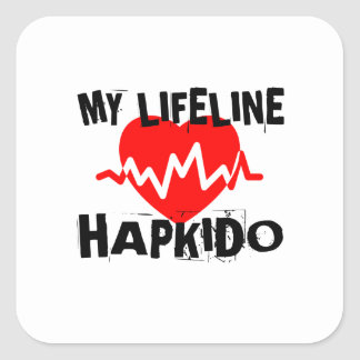 MY LIFE LINA HAPKIDO MARTIAL ARTS DESIGNS SQUARE STICKER