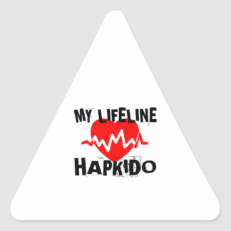 MY LIFE LINA HAPKIDO MARTIAL ARTS DESIGNS TRIANGLE STICKER