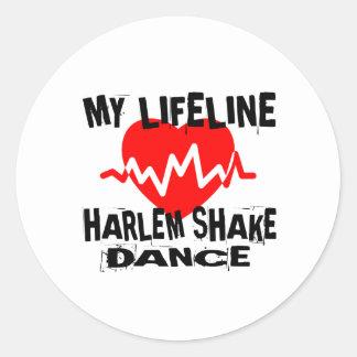MY LIFE LINA HARLEM SHAKE DANCE DESIGNS CLASSIC ROUND STICKER
