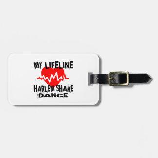 MY LIFE LINA HARLEM SHAKE DANCE DESIGNS LUGGAGE TAG