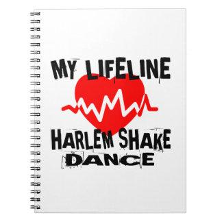MY LIFE LINA HARLEM SHAKE DANCE DESIGNS NOTEBOOK